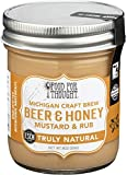 Food For Thought, Mustard Rub Michigan Craft Brew Beer Honey, 8 Ounce