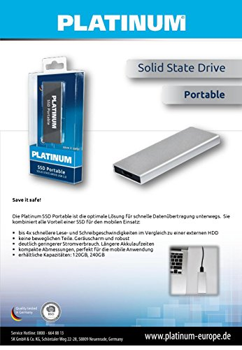 Platinum SSD Solid State Drive Portable 240 GB