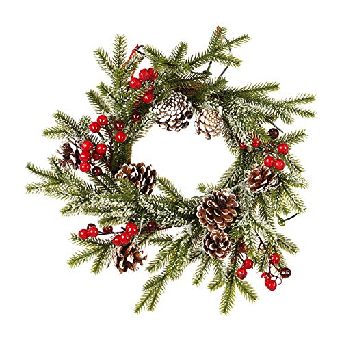 R1vceixowwi - Corona de Navidad artificial (40 cm)