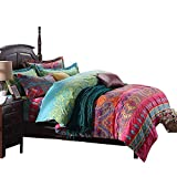 FADFAY Bohemian Style Bedding Sets 4-Piece Queen Size