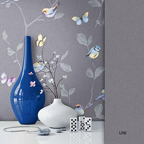 NEWROOM Blumentapete Tapete Blumen Blätter Floral Vliestapete Vlies moderne Design Optik Blumentapete Modern inkl. Tapezier Ratgeber