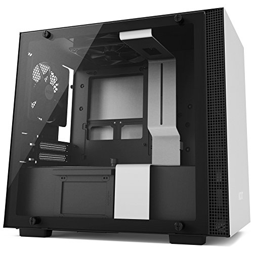 NZXT H200 - Mini-ITX PC Gaming Case - Tempered Glass Panel -Enhanced Cable Management System - Water Cooling Ready - White/Black - 2018 Model
