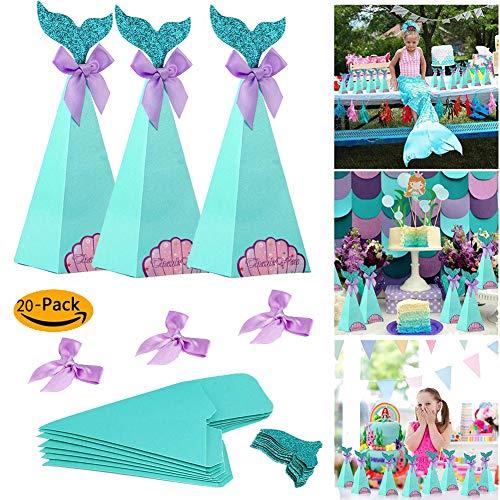 Sirena Dulces Cajas de dulces Bolsa de regalo de papel Cumpleaños ...