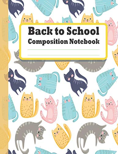 Back to School Composition Notebook: Pusheen Cats Journal and Notebook for Girls and Boys - Pusheen Cats Notebook 8-1/2 inch by 11 - Lined and Blank ... (Pusheen Notebooks and Journals) VOL 2
