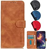 YOUKIT Case for Samsung Galaxy A21S, Premium PU Leather Wallet Case Flip Folio Cover with Card Holder Slot, Magnetic Closure, Kickstand (Shockproof TPU Interior Case) for Samsung A21S (Brown)