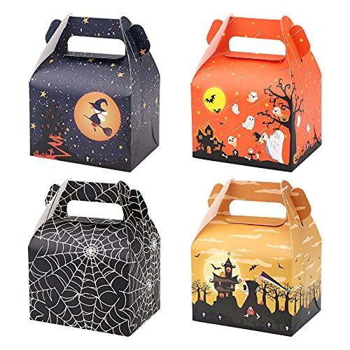 36 piezas Cajas de regalo de dulces de Halloween Cajas de dulces de Halloween Caja de galletas de dulces de papel de dulces Bolsas de dulces de Halloween Bolsas de regalos para fiestas de Halloween