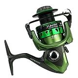 DIYARTS GCA1000-7000 Pesca Spinning Serie Carrete Izquierda Derecha Accesorio Pesca con Brazo Oscilante Intercambiable para Pesca Agua Dulce Salada Dos Colores Opcionales (Green-GCA1000)