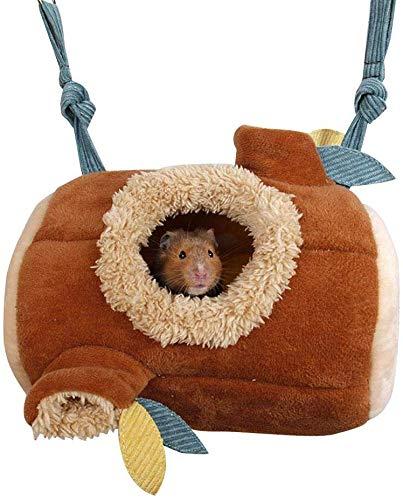 MQFORU Hamster Hamster Hamster Hamster Colgante Cama Hamster Accesorios Jaula de Juguete Cálido Nido de Lana para Roedores, Azúcar Planeador Cobaya