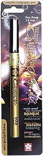 Sakura SAK47381 Blister Card Pen Touch Calligrapher Marker Pen, Gold