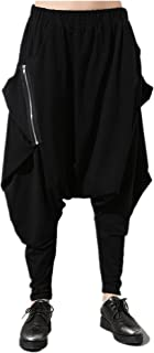 (サンワールド)Sunworld サルエルパンツ 男女兼用 ユニセックス V系 パンク 黒 ファスナー