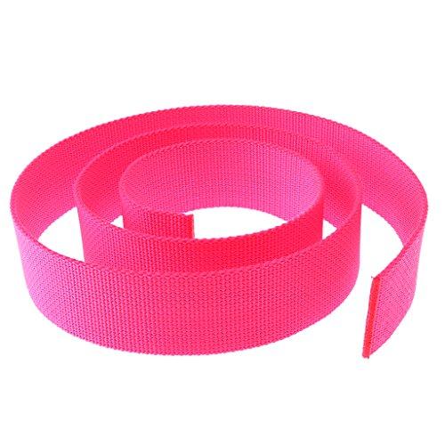 MagiDeal Tauchgewicht Gürtel Bleigurt/Gewichtsgürtel 1,5m zum Tauchen (schöne und auffällige Farben Auswählbar) - Fluoreszenz Rosa