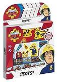TOTUM 340015 - Juego de pegatinas de bombero (50 unidades, 1 escena de cartón), multicolor , color/modelo surtido