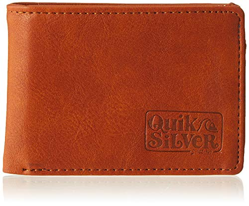 Quiksilver Slim Folder, Monederos. para Hombre, natural, Small