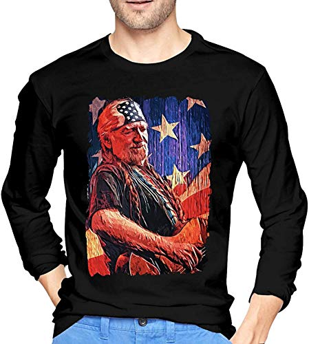 Willie Nelson Men Long Sleeve T-Shirt Graphic Shirts Tops