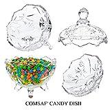 ComSaf Bonboniere mit Deckel Ф14cm, Zuckerdose aus Glas Klein, Lebensmittelechter Glasbehälter für Snacks - 6