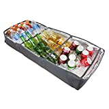 Duraviva Insulated Food & Drink Portable Foldable Party Cooler and Serving Tray for Beverages,...