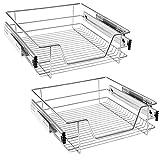 HENGMEI Cajón armario cajón extraíble cajón de cocina Estante Estantería de cocina cesta auszug Dormitorio cajón, 2x50 cm