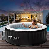 COSYSPA Inflatable Hot Tub Spa – Outdoor Bubble Jacuzzi | 2-6 Person Capacity – Quick Heating Hot Tub | Inflatable Hot Tub | Outdoor Inflatable Hot Tub Spa (6 Person + 6 Filters + Pack + Cover)
