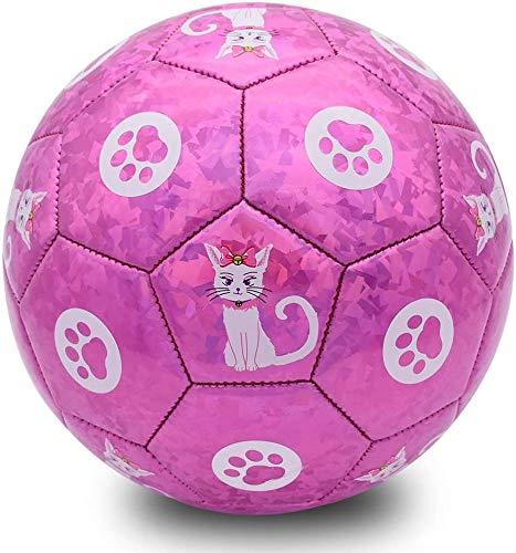 Champhox Kinder Fußball Größe 3 mit Pumpe, Kinder Sportball, Cartoon-Design, Kleinkinder, Freizeitball für drinnen und draußen, Ball für Kinder, Kleinkinder, Mädchen, Jungen, Kinder