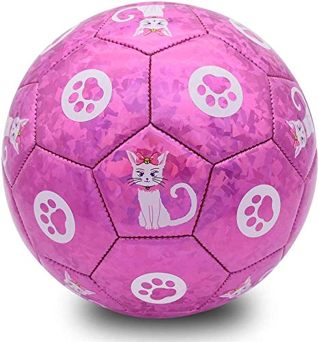 Champhox Kinder Fußball Größe 3 mit Pumpe, Kinder Sportball, Cartoon-Design,...