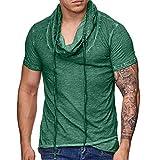 Xmiral T-Shirt Uomo,T-Shirt Divertente Uomo,T-Shirt Basic,T-Shirt Girocollo Semplice,Simple Tee, Maglietta a Maniche Corte, Uomo XL Verde