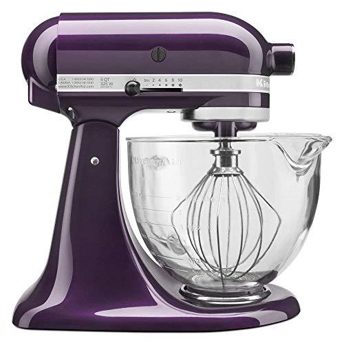 KitchenAid 5-Quart Stand Mixer Glass Bowl Plumberry