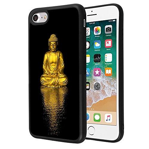 Gold Buddha iPhone 7 Plus 8 Plus Case Customized Design Anti-Scratch Flexible Shock Absorption Soft TPU Protective Phone Case for iPhone 7 Plus 8 Plus