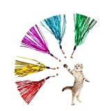 KitoLee 猫じゃらし 猫おもちゃ 羽のおもちゃ 猫のお好みじゃらし 交換用 替え(5点セット)