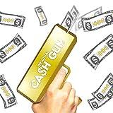 Cash Gun Originale | Money Gun | Oro | Money Launching Pistol | Cash Pistol | Fai piovere | Party Gun | 100 Banconote False Incluse | Accessorio | Gioco | Partito | OriginalCup®