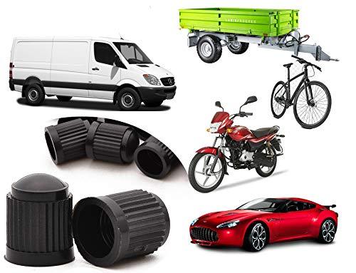 Alpin Set van 20 bandafsluiters, kunststof autobandafsluiter Stammen Stofafsluiters voor auto, motor, vrachtwagen, fiets, fiets (zwart) voor alle soorten wielafsluiters | 20 stuks |