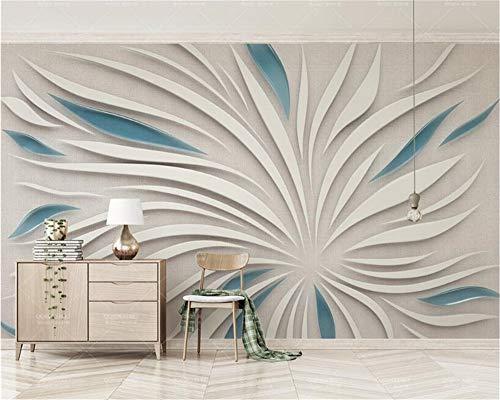 Weaeo Wohnzimmer Wandtapete 3D Abstrakte Blütenblatt Blumen Seidenstoff Nach Maß Fototapete 3D Wallpaper-200X140Cm
