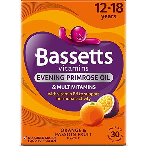Bassetts 12-18 Multivitamins Evening Primrose Oil Orange & Passion Fruit, Pack of 30