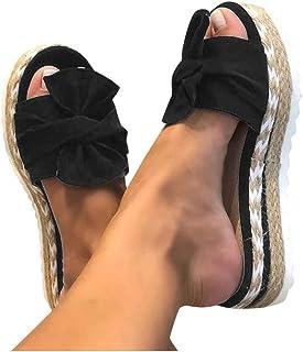 Sandales Plates Femme Bout Ouvert Pantoufles Slip-on Été Claquettes Nu Pieds Semelle Compensée Confortable Chaussures Anti...
