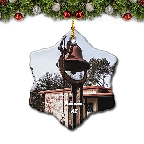 Umsufa Benson Bookshop Arizona USA Christmas Tree Ornament Travel Gift Souvenir 3 Inch Porcelain Double Side