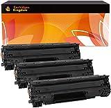Cartridges Kingdom Pack de 3 Cartuchos de tóner láser compatibles con HP CE278A 78A para HP Laserjet Pro M1536, M1536dnf, P1560, P1566, P1600, P1606, P1606dn