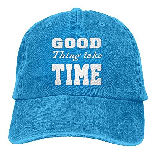 Jopath Good Things Take Time-2 - Gorra de béisbol unisex ajustable al aire libre con malla