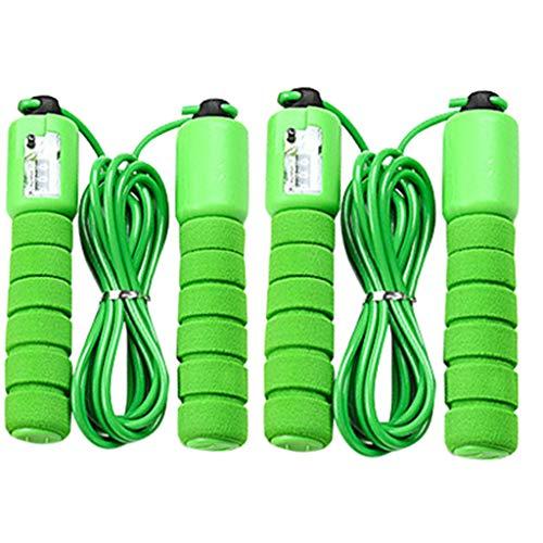 SINGOing Springseil Premium -digital Zähler– 2PC Speed Rope Für Fitness,Stahl Seil mit PVC Ummantelung, Ausdauer & Abnehmen. Ideal für Boxen, Crossfit, Intervalltraining & Double Unders