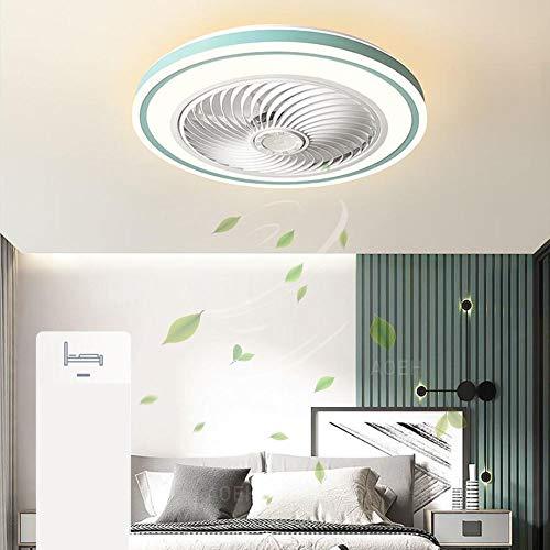 Lámpara para niños Ventilador de techo con iluminación Lámpara de ventilador LED Regulable con control remoto para la habitación de los niños Sala de Restaurante Dormitorio Lámpara de ventilador