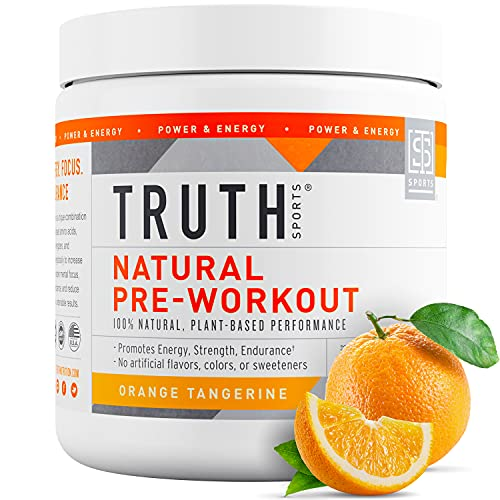 Truth Nutrition All Natural Pre Workout Powder - Clean Pre Workout for Men Keto - Pre Workout Women Plant Based Vegan Preworkout Powder - Natural Preworkout for Women and Men (Orange Tangerine)