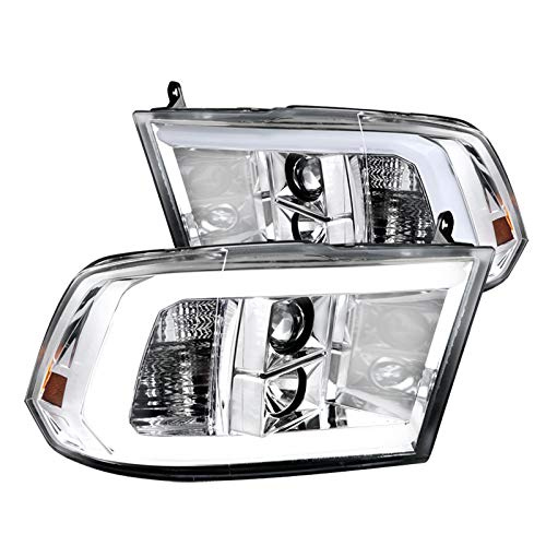 Spec-D Tuning for Dodge Ram LED DRL Strip Chrome Projector Headlights