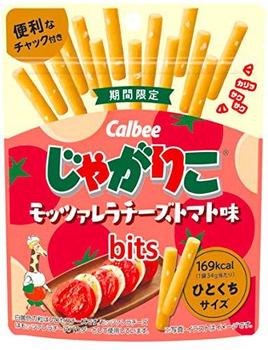 【販路限定品】カルビー じゃがりこ モッツァレラチーズトマト味味bits 34g×12袋