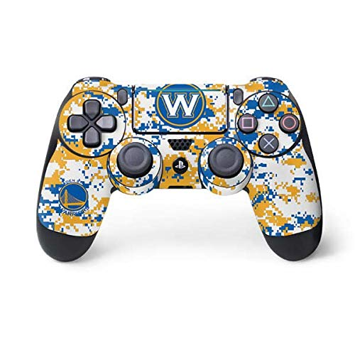 Skinit Decal Gaming Skin for PS4 Pro/Slim Controller - Officially Licensed NBA Golden State Warriors Digi Camo Design