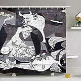 lovedomi Guernica España Octubre Painter Wall Picasso 10 2015 On The Hitos En El Parque De Cría Cortina De Ducha De Baño De Microfibra Al Aire Libre Tela De Poliéster 72X72 Pulgadas