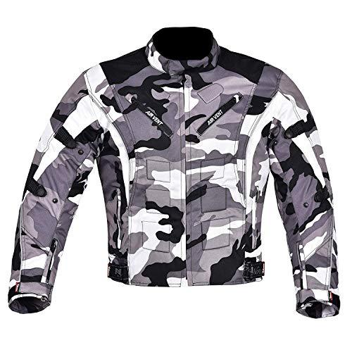 NORMAN Herren Motorrad Motorrad Jacke Wasserfeste Textil mit CE verstärkt camo - Camouflage, Large
