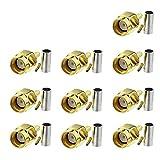 Eightwood WLAN Adaptador RP SMA Conector RP-SMA Conector de PCB Montaje en PCB Recto Crimp 10 Unids para Módulo Inalámbrico RG174 RG316 LMR100 Cable RF