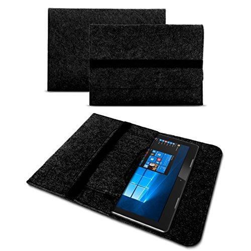 UC-Express Sleeve Hülle Trekstor SurfTab Duo W1 Filz Tasche Hülle Cover Tablet Schutzhülle, Farben:Dunkles Grau