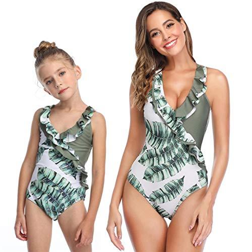 UKKD Bikini Familia A Juego Madre Hija Una Pieza Traje De Baño Niña Traje De Baño Mujeres Bikini Niño Nadar Desgaste-B,Girl 152(9-10T)