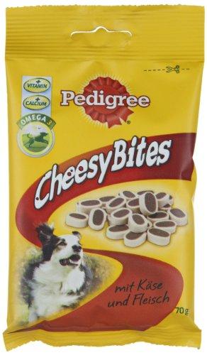 Pedigree Hundesnack Cheesy Bites mit Käse und Fleisch 70 g, 12er Pack (12 x 70 g)