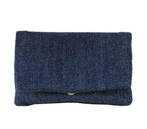 Plan B Funda tabaco de liar TWO DAYS Tejana (11,5 x 7,5 cm) 15 g de picadura con bolsa interior de goma EVA Azul. Hecha a mano en España