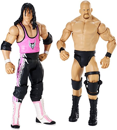 WWE – Wrestlemania – Stone Cold Steve Austin vs Bret Hart – 2 Figurines Articulées 15 cm